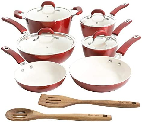 Kenmore Arlington Nonstick Ceramic Coated Forged Aluminum Induction Cookware with Bakelite Handles product image