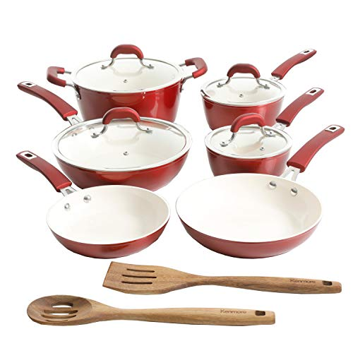 Kenmore Arlington Nonstick Ceramic Coated Forged Aluminum Induction Cookware