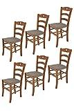 t m c s Tommychairs - Set 6 sillas Cuore para Cocina y Comedor, Estructura en Madera de Haya Color...
