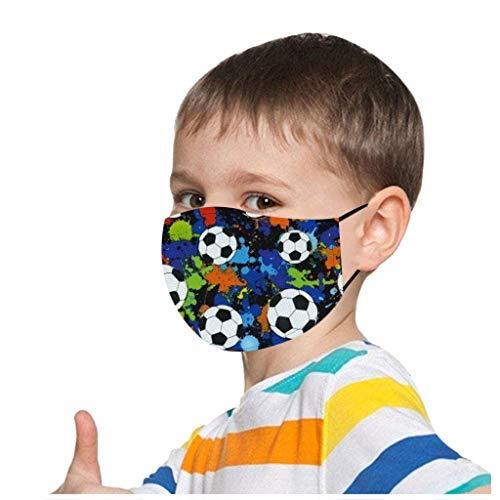 1stk Kinder Mundschutz Multifunktionstuch 3D Fußball Druck Maske Atmungsaktive Baumwolle Stoffmaske Waschbar Mund-Nasenschutz Tiermotiv Bandana Halstuch Jungen Mädchen