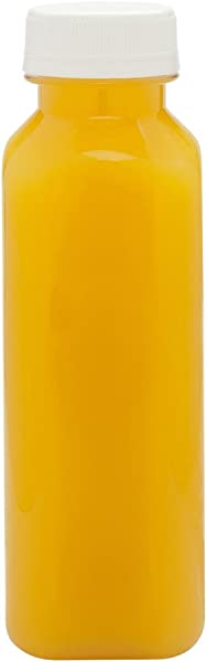 12 OZ Square Plastic Juice Bottles Cold Pressed Clear Food Grade PET Bottles With Tamper Evident Safety Cap Perfect For Juice Shops Caf S And Catering Events Disposable And Eco Friendly 100 CT