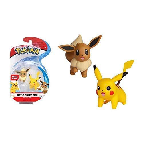 Lively Moments Pokemon Battle Pack Pikachu & Evoli - Eevee / Sammelfiguren / Spielfiguren Alola Erweiterung