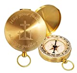 Stanley London Engraved May Your Faith Always Guide You Brass Pocket Compass, Personalized Baptism/Confirmation Gift (Engraved Compass Only)