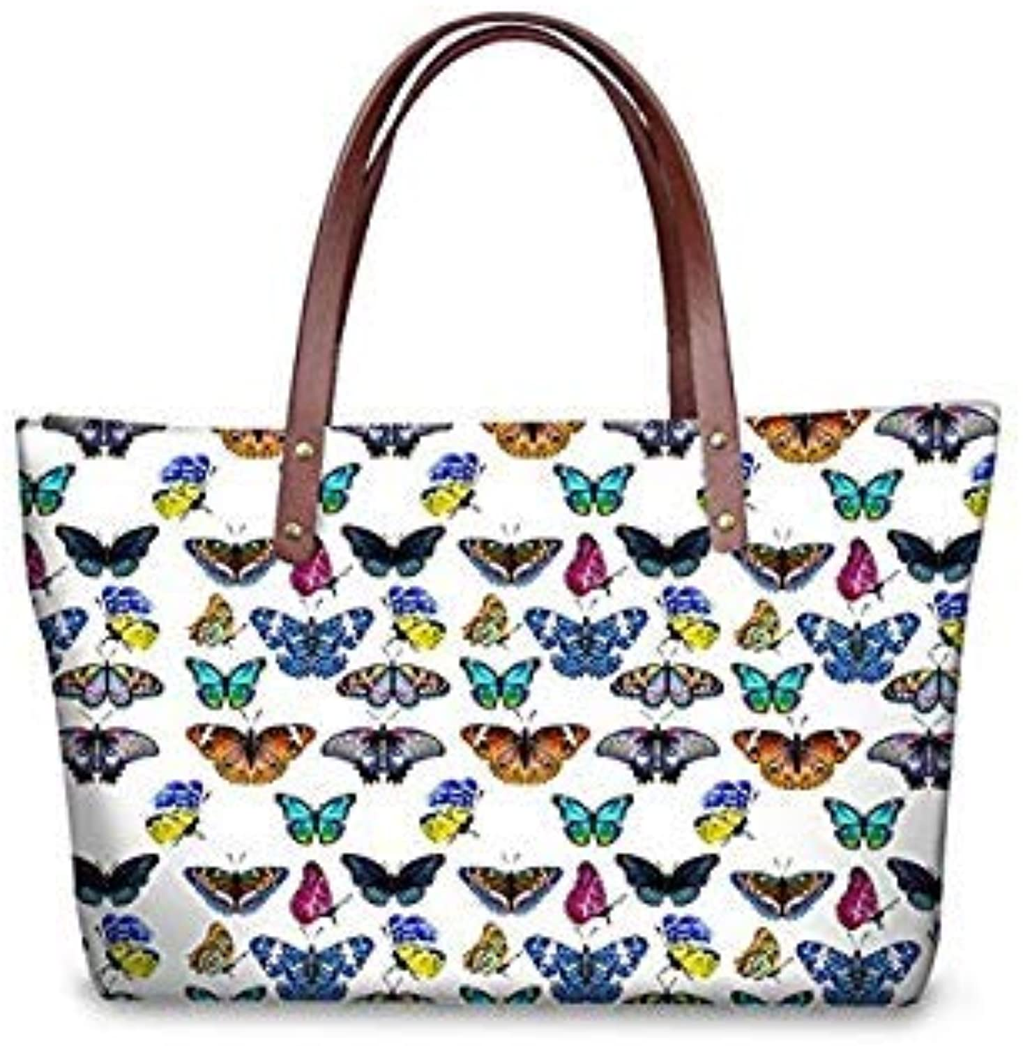 Bloomerang WHOSEPET Women Handbags Cartoon Cat Print Shoulder Messenger Bag Ladies Large Tote Bag Top-Handle Bags for Shopping Female Bolsa color CC3118AL