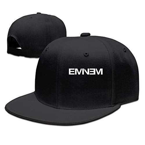 Youaini Men's Eminem Rap Style Flat Baseball Caps Black