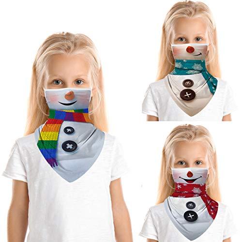 Tobheo Kinder Multifunktionstuch für Jungen Mädchen, Weihnachten Mundschutz Schlauchtuch Waschbar Halstuch Radfahren Sport Biker Tuch Bandanas Kopftuch