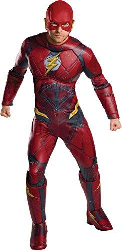 Marvel - Disfraz de Flash Deluxe para adultos, Talla única (Rubie's 820661)