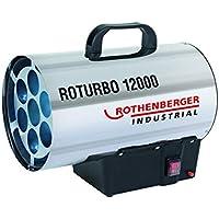 ROTHENBERGER 1500000050 Industrial Gas – Heiz – Kanone / Gebläse RoTurbo 12000 inkl. Piezo-Zündung, Schlauch und Regler, 13,3 kW