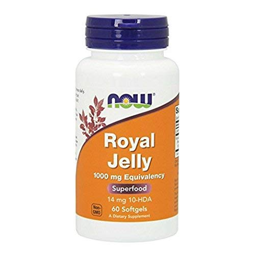 NOW Foods Royal Jelly 1500mg, 60 Capsules (Pack of 2)