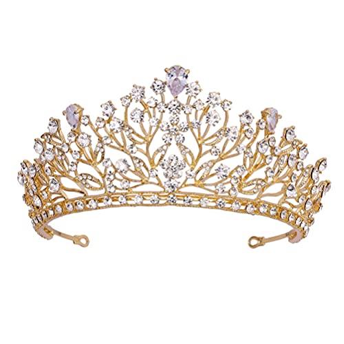 Lurrose Tiara de boda Corona de diamantes de imitación de novia Corona...
