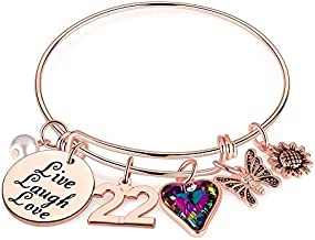 Ursteel 22 Year Old Birthday Gifts for Her, 22 Birthday Gift for Women Teenage Girls Daughter Granddaughter Girl Weekend Sister Niece Happy 22nd Birthday