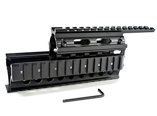 OAREA Tactical Drop in Quad Rail Zielfernrohrmontage RIS Quad Handschutz für AK 47 AK74 AKS Jagdschießen Airsoft Gewehrzubehör Schwarz/Hellbraun