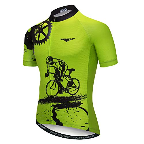 JPOJPO Cycling Jersey Mens Bike Jersey MTB Road Bicycle Clothing Summer Short Sleeve Pro Breathable Cycling Shirt Tops Jackets, Cd5231, XL for Chest38.6-41