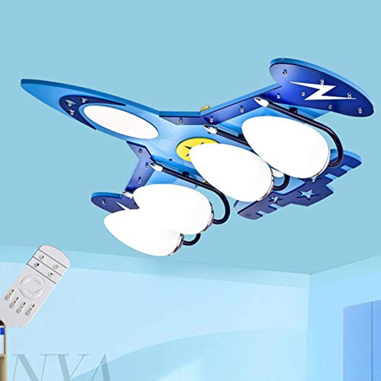 Aione Augenschutz Kinder Deckenleuchte blau Holz Kinderzimmer E14 Deckenleuchte Junge LED Auge Flugzeug Licht Cartoon Studie Schlafzimmer Lampe Deckenleuchte,Blau
