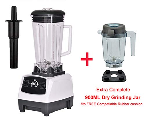 Learn More About 2200W 3Hp 2L G5200 High Power Commercial Home Professional Smoothies Power Blender Food Mixer Juicer Fruit Processor,White Extra Dry Jug,Eu Plug