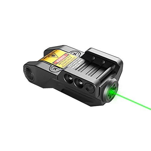 HAWK GAZER LG9 Low Profile Rechargeable Green Laser Sight, for Handgun, Pistol, Rifle with Rails
