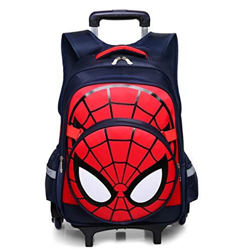 Spiderman Six Wheels Trolley Case School Bags Boy Oxford Cloth Vacation Backpack