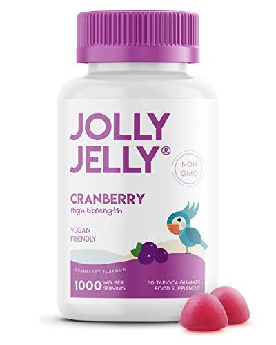 Cranberry Tapioca Fruity Gummies - 1000mg - Potent Formula, Made with Organic Tapioca, Cranberry Flavour - Kosher, Halal, Non GMO - 60 Vegan Fruity Gummies.