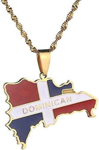 WYDSFWL Collar Trinidad y Tobago Ciudad Nombre de la Ciudad Collares Pendientes Mujeres Hombres Joyería étnica de Acero Inoxidable Regalo de Regalo