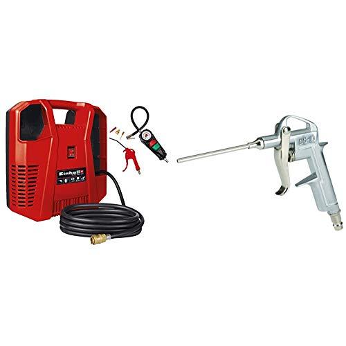 Compresor Einhell TH-AC 190 Kit (1.100W, potencia de extracción: 190 l/min, presión de trabajo máxima: 8bar) + Pistola lubricar con caño largo