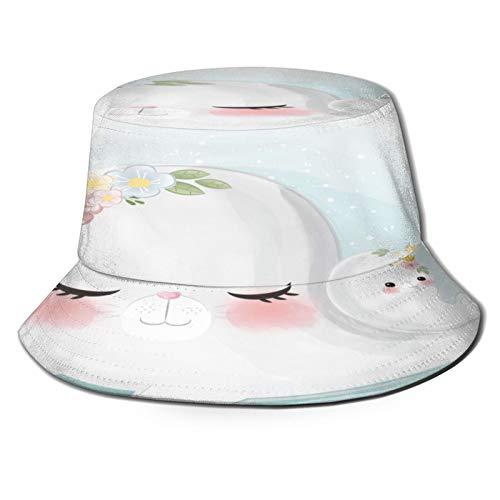 Sombrero de Pescador Unisex Linda cría de Foca de mamá Plegable De...