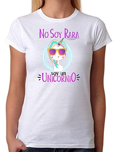 Camiseta Unicornio. No Soy RARA Soy un Unicornio. Camiseta Super Chula Divertida para Destacar Entre Las Amigas. (S)