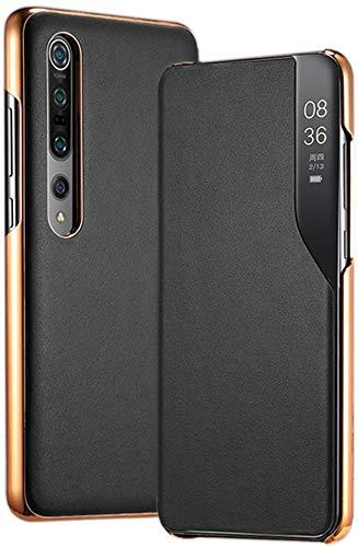Clamshell Phone Hülle für Xiaomi Mi 10/10 Pro 5G. 9 SE / S / CC9 e / MIX 3/8/11/12 / Redmi Note 8 T / K 20/30 / 7A Schutzholster /X Schutzhülle/Hülle/Handyhülle/Handy-tasche/Handy-Kasten - Schwarz