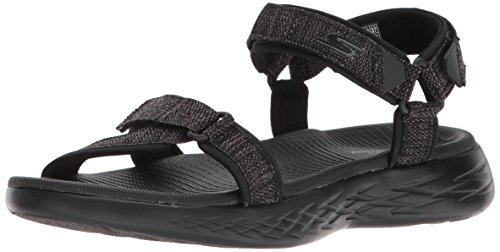 Skechers Damen Sandalen ON The GO 600 Radiant Schwarz, Schuhgröße:EUR 37