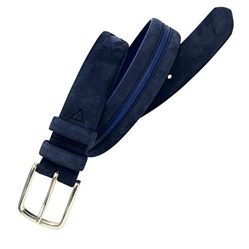 Leyva - Cinturón de piel Nobuck y Napa de hombre (105 cm)