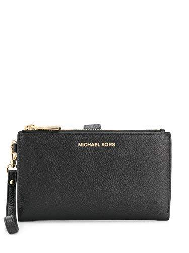 Luxury Fashion | Michael Kors Dames 34F9GAFW4L001 Zwart Leer Portemonnees | Seizoen Permanent