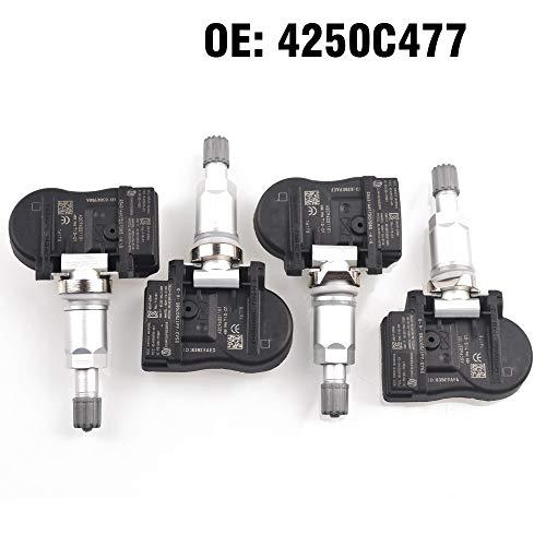 JXXDDQ Monitor de presión de los neumáticos de Coches 4PCS Sensor TPMS 4250C477 for Mitsubishi ASX Lancer Outlander Lancer ASX I-MiEV