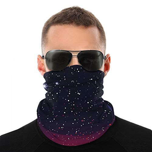 Landscape and Mountains Astrology Astronomy Safe Face Bandana Protection Washable Mouth & Nose Shield Breathable Anti Smoke Pollution Bike Motorcycle Sport