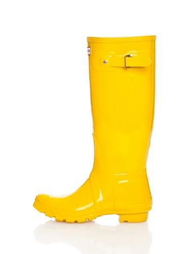 Botas altas Mujer amarillas