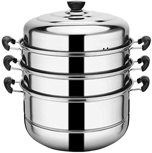 XH&XH 400 marmite à Poisson Cuite à la Vapeur en Acier Inoxydable 28 cm marmite cuisinière à Induction épaissir la cuisinière à gaz à la Maison
