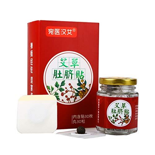 Moxa Navel Patch - KISSION Autocollant de traitement d'acupuncture en médecine chinoise, Patch de ventre chaud pour coller le ventre