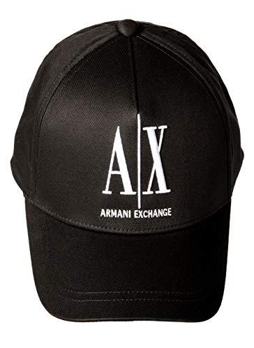Armani Exchange A X Herren Logo Baseball Hat Verschluss, schwarz, Einheitsgröße