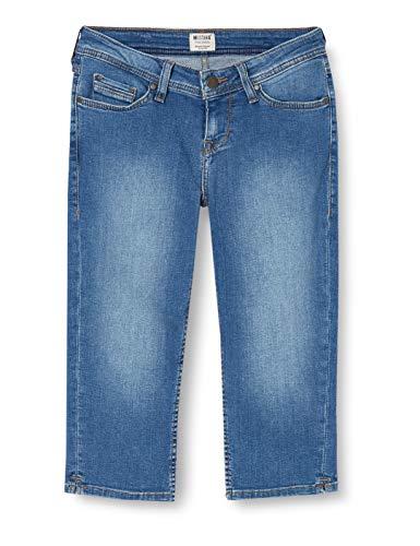 MUSTANG Damen Jasmin Capri Shorts, Blau (Medium Dark 780), W(Herstellergröße: 26)