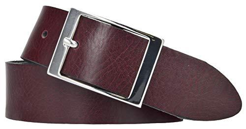 Mytem-Gear Damen Gürtel Leder Belt Ledergürtel Nappaleder 35 mm Damengürtel (100, Bordeaux)