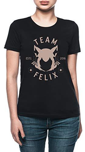 Vendax Team Felix Camiseta Mujer Negro