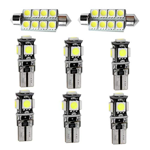 8PCS/Set T10 41MM LED Ampoules de Voiture Lampe 5050 SMD Intérieur De Voiture Lumière Dôme Carte Côté Feux De Plaque Feu De Stationnement Sans Erreur pour XC60 2010-2015