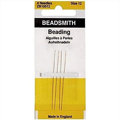 Beadaholique English 4-Piece Beading Needles, Size 12