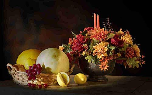 Ymxszn niños Adultos 1000 Piezas Rompecabezas Juego de Flores y Frutas Juguete Regalo decoración del Dormitorio niño niña Regalo decoración del hogar