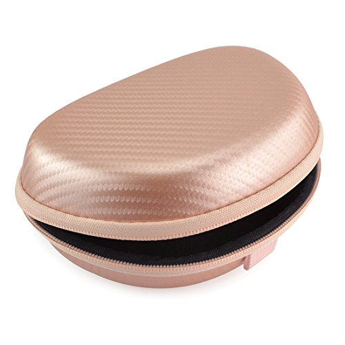Geekria UltraShell Headphone Case for Beats Solo3, Solo 3, Solo2, Solo 2 Wireless Headphones, Beats Solo pro Hardshell Carrying Case/Headset Protective Travel Bag (Rose Gold)