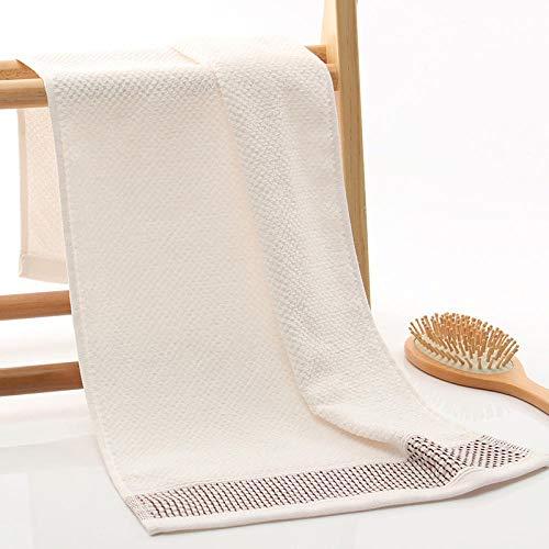 XINDUO Alta absorción Toallas Grandes súper Suaves,Toalla cómoda de Gama Alta de Color Puro 2pcs-White_34 * 75,Lujo de algodón Puro Toalla