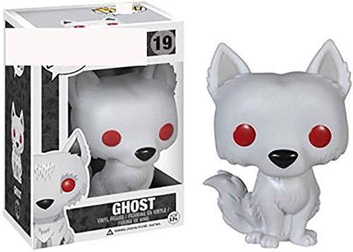 A-Generic Pop! Juego de Tronos Grey Wind Ghost Figura de Vinilo de 10 cm Figuras de acción Serie de estatuas de Anime Coleccionables-Segundo