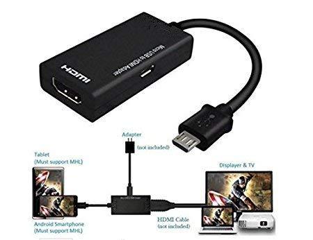 Youbo ADAPTADOR Micro USB 5 Pin al Cavo di HDMI Adattatore per HDTV 1080 p per Samsung per Sony Xperia Z1 Z2