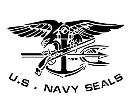 Große US-Militär-Flagge Schablone zum Malen auf Holz, Stoff, Wänden, Airbrush und mehr, wiederverwendbar, 10-35,6 cm Mylar-Schablone (U.S. Navy Seals)