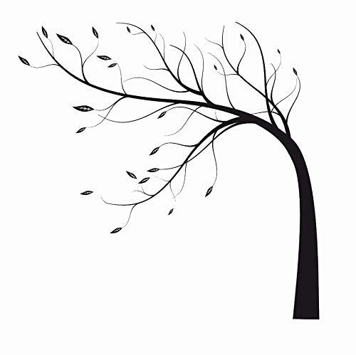 Wiederverwendbare Schablone Baum im Wind, A3, A4, A5 & größere Größen, Wand Shabby Chic / T64, Widerverwendbare PVC-Schablone, A4 size - 210 x 297 mm, 8.3 x 11.7 in