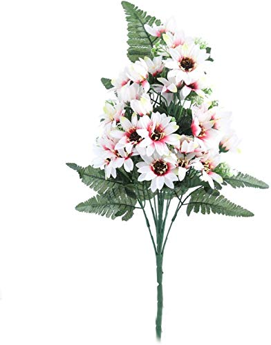 XDSDGY 27 Jefes/Falso de la Flor Artificial del Ramo de Flores de Seda Aster Pequeño Gerbera Flores Flor de la Margarita DIY Boda decoración de jardín, Rojo de Rose, tamaño: un tamaño, Color: Rosa