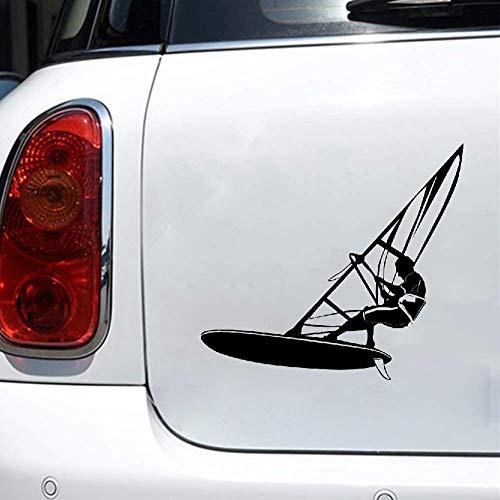 Autoadhesivos Windsurf Water Extreme Sports Car Styling Stickers Etiquetas engomadas hermosas y frescas Ventana trasera Etiqueta engomada del coche Calcomanías del cuerpo